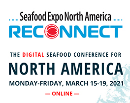 Image of the Seafood Expo North America Reconnect banner