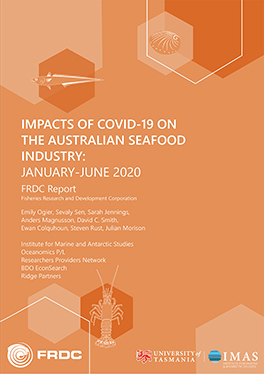 Impacts of COVID-19 on the Australian Seafood Industry: January-June 2020 FRDC Report cover