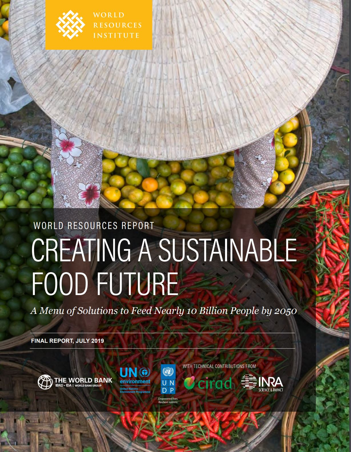 World Resources Institute Report Cover - Creating a sustainable food future
