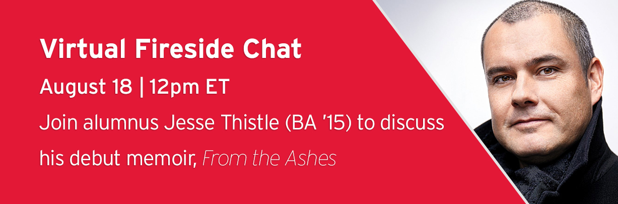 Virtual fireside chat withauthor Jesse Thistle (BA '15)